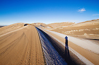 Hiking in Great Sand Dunes National Park, CO.