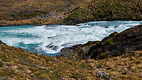 Rapids before the Waterfall in Torres del Paine National Park. Image taken with a Fuji X-T1 camera and Zeiss 32 mm f/1.8 lens.