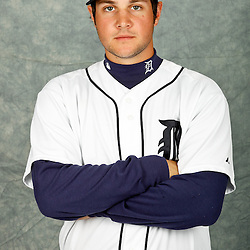 February 28, 2012; Lakeland, FL, USA; Detroit Tigers catcher Patrick Leyland (77) poses for photo day in the rec room at the Detroit Tigers Headquarters.  Mandatory Credit: Derick E. Hingle-US PRESSWIRE
