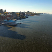 Hudson River, Yonkers Pier looking south to NYC