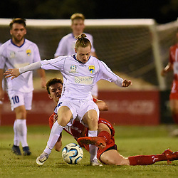BRISBANE, AUSTRALIA - JULY 1:  during the NPL Senior Men's Round 19 match between Olympic FC and Gold Coast United on July 1, 2018 in Brisbane, Australia. (Photo by Olympic FC / Patrick Kearney)