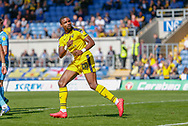Oxford United forward Jonathan Obika (20) celebrates scoring during the EFL Sky Bet League 1 match between Oxford United and Coventry City at the Kassam Stadium, Oxford, England on 9 September 2018.