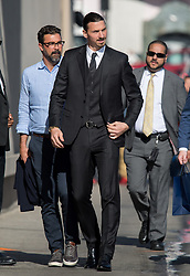 Zlatan Ibrahimovic is seen at 'Jimmy Kimmel Live' in Los Angeles, California. NON EXCLUSIVE April 17, 2018. 17 Apr 2018 Pictured: Zlatan Ibrahimovic. Photo credit: RB/Bauergriffin.com/MEGA TheMegaAgency.com +1 888 505 6342