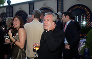 Terry O'Neill. The Business Summer party hosted by Andrew Neil. Italian Hotel, Ritz Hotel. 12 July 2005. ONE TIME USE ONLY - DO NOT ARCHIVE  © Copyright Photograph by Dafydd Jones 66 Stockwell Park Rd. London SW9 0DA Tel 020 7733 0108 www.dafjones.com