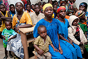 Central African Republic. August 2012.  Bouar. Zengota village, population 843. Community meeting
