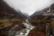 Valtellina,Il torrente Mallero,località Torre di Santa Maria (Sondrio)