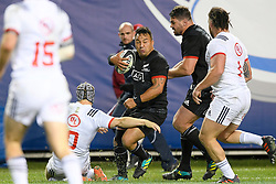 November 3, 2018 - Chicago, IL, U.S. - CHICAGO, IL - NOVEMBER 03: Maori All Blacks Ash Dixon (2) runs with the ball in action during the Rugby Weekend match between the New Zealand Maori All Blacks and the USA Eagles on November 3, 2018 at Soldier Field, in Chicago, Illinois.  (Photo by Robin Alam/Icon Sportswire) (Credit Image: © Robin Alam/Icon SMI via ZUMA Press)