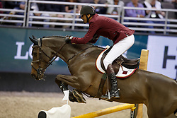 Sheikh Al Thani Ali, QAT, Carolina 31<br /> Round 2<br /> Longines FEI World Cup Jumping, Omaha 2017 <br /> © Hippo Foto - Dirk Caremans<br /> 01/04/2017