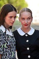 Stacy Martin and  Mona Fastvold at the gala screening for the film The Childhood of a Leader at the 72nd Venice Film Festival, Saturday September 5th 2015, Venice Lido, Italy.