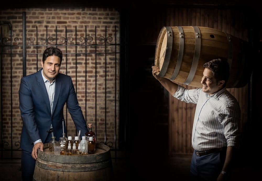 Brussels, Belgium - 29 September 2017 <br /> Ezequiel Dominguez - Whisky maker.<br /> Photo: Ezequiel Scagnetti