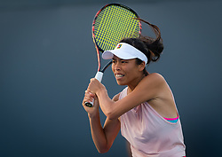 August 11, 2018 - Su-Wei Hsieh of Taipeh in action during qualifications at the 2018 Western & Southern Open WTA Premier 5 tennis tournament. Cincinnati, USA, August 11, 2018 (Credit Image: © AFP7 via ZUMA Wire)