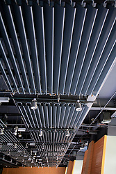 CHINA ZHEJIANG PROVINCE HANGZHOU 21MAY10 - Geothermal heat radiators on the ceiling of the main hall of the Green building museum at the Energy and Environment Industial Park outside of the city of Hangzhou, China...jre/Photo by Jiri Rezac..© Jiri Rezac 2010