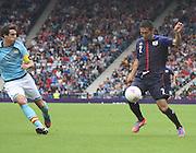 Men's Olympic Football match Spain v Japan on 26.7.12...Yuhei Tokunaga of Japan and Javier Martinez of Spain, during the Spain v Japan Men's Olympic Football match at Hampden Park, Glasgow...Picture John Millar / ProLens PhotoAgency / PLPA.Thursday 26th July 2012......................