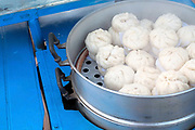 Chinese steamed buns for sale at the That Luang festival, Vientiane, Lao PDR