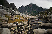 Morning Star Peak from Vesper Lake, North Cascades, Washington.