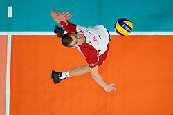 23-09-2019 NED: EC Volleyball 2019 Poland - Germany, Apeldoorn<br /> 1/4 final EC Volleyball Poland win 3-0 / Maciej Muzaj #2 of Poland