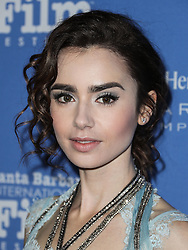Santa Barbara International Film Festival's 10th annual Kirk Douglas Awards honoring Warren Beatty in California.<br /> 01 Dec 2016<br /> Pictured: Lily Collins.<br /> Photo credit: Image Press / MEGA<br /> <br /> TheMegaAgency.com<br /> +1 888 505 6342
