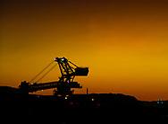 An Iron Ore reclaimer at work in the Pilbara region of Western Australia