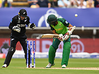 Cricket - 2019 ICC Cricket World Cup - Group Stage: New Zealand vs. South Africa<br /> <br /> South Africa's Hashim Amla clean bowled by New Zealand's Tim Southee for 55, at Edgbaston, Birmingham.<br /> <br /> COLORSPORT/ASHLEY WESTERN