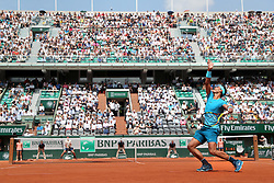 June 4, 2018 - Paris, France - RAFAEL NADAL of Spain plays against Maximilian Marterer of Germany during their 8th final match of the French Tennis Open 2018 at Roland Garros. Nadal won 6-3, 6-2, 7-6. (Credit Image: © Maya Vidon-White via ZUMA Wire)