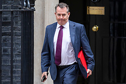 © Licensed to London News Pictures. 10/07/2018. London, UK. Secretary of State for International Trade Liam Fox leaved 10 Downing Street after the Cabinet meeting. Photo credit: Rob Pinney/LNP