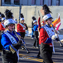 Philadelphia, PA / USA – November 26, 2014: All Stars drummers march in the Philadelphia Thanksgiving Day Parade.