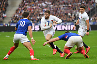 Rugby Union - 2020 Guinness Six Nations Championship - France vs. England<br /> <br /> England's Elliot Daly in action during this afternoon's game, at The Stade de France, Paris.<br /> <br /> COLORSPORT/ASHLEY WESTERN