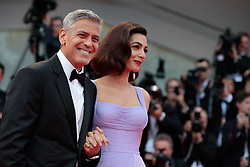 Actors Matt Damon, Julianne Moore and George Clooney with wife Amal Clooney walk the red carpet ahead of the 'Suburbicon' screening during the 74th Venice Film Festival at Sala Grande on September 2, 2017 in Venice, Italy. 02 Sep 2017 Pictured: George Clooney and Amal Clooney. Photo credit: Fernanda Bareggi / MEGA TheMegaAgency.com +1 888 505 6342