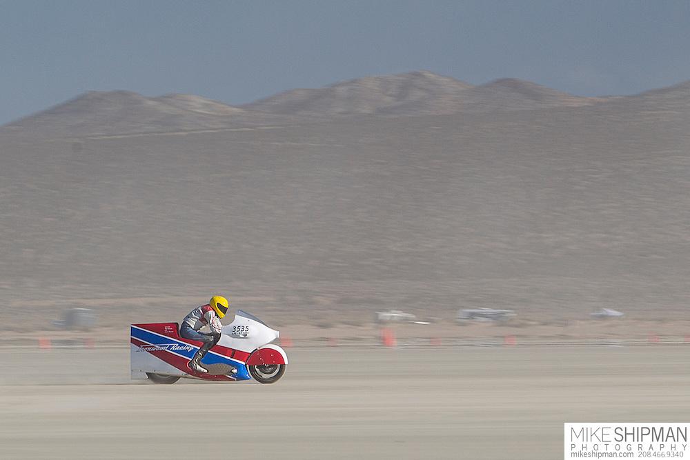 Ralph Hudson, 3535B, eng 1000CC, body APS-BF, driver Ralph Hudson, 235.848 mph, previous record 232.682