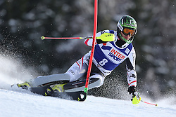 06.01.2014, Stelvio, Bormio, ITA, FIS Ski Alpin Weltcup, Salom, Herren, 1. Durchgang, im Bild Reinfried Herbst (AUT) // Reinfried Herbst of Austria in action during 1st run of mens Slalom of the Bormio FIS Ski World Cup at the Stelvio Course in Bormio, Italy on 2014/01/06. EXPA Pictures © 2014, PhotoCredit: EXPA/ Sammy Minkoff<br /> <br /> *****ATTENTION - OUT of GER*****