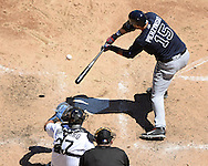 CHICAGO - JULY 09:  A.J. Pierzynski #15 of the Atlanta Braves bats against the Chicago White Sox on July 9, 2016 at U.S. Cellular Field in Chicago, Illinois.  The White Sox defeated the Braves 5-4.  (Photo by Ron Vesely) Subject:    A.J. Pierzynski