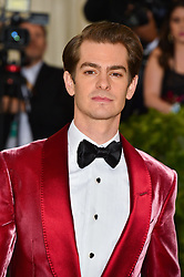 Andrew Garfield attending the Costume Institute Benefit at The Metropolitan Museum of Art celebrating the opening of Heavenly Bodies: Fashion and the Catholic Imagination. The Metropolitan Museum of Art, New York City, New York, May 7, 2018. Photo by Lionel Hahn/ABACAPRESS.COM
