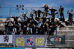Fans of NK Celje during the football match between NK Triglav Kranj and NK Celje in 25. Round of Prva liga Telekom Slovenije 2019/20, on March 8, 2020 in Sportni park Kranj, Slovenia. Photo by Grega Valancic / Sportida