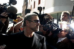GEORGE MICHAEL (born Georgios Kyriacos Panayiotou, 25 June 1963 - 25 December 2016) was an English singer, songwriter, and record producer who rose to fame as a member of the music duo Wham! in the 1980s, with best-selling post-disco dance-pop songs such as 'Last Christmas' and 'Wake Me Up Before You Go-Go'. His 1987 debut solo album 'Faith' sold more than 20 million copies worldwide. Michael garnered seven number one singles in the UK and eight number one hits in the U.S. PICTURED: Aug 24, 2010 - London, England, United Kingdom - Singer George Michael arriving at Highbury Corner Magistrates  this morning charged with driving under the influence of drugs after his car crashed into a high street shop. (Credit Image: © Ki Price/ZUMAPRESS.com)