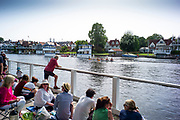 Henley on Thames, England, United Kingdom, 28th June 2019, Henley Royal Regatta Qualifiers, time trial, on Henley Reach, [© Peter SPURRIER/Intersport Image]<br /> <br /> 15:33:41