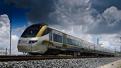 4 February 2009, newly built Gautrain does tests in Midrand on a 4 km track. Picture. Gautrain Rapid Rail Link 03