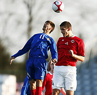 Fotball , 28. april 2011 , U19 , WC. qual.<br /> Norge - Moldova<br /> Norway -Moldova 4-0<br /> <br /> Gustav Valsvik , Norge<br /> Iurie Mtrzh , Moldova