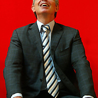 Blair talks at a press conference in Glasgow.Picture David Cheskin April 2007
