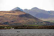 A fisherman on Lough Lein, Killarney with Ireland;s Highest Mountain Carrauntoohill in the background.<br /> Picture by Don MacMonagle