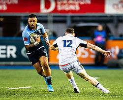 Willis Halaholo of Cardiff Blues<br /> <br /> Photographer Simon King/Replay Images<br /> <br /> Guinness PRO14 Round 2 - Cardiff Blues v Edinburgh - Saturday 5th October 2019 -Cardiff Arms Park - Cardiff<br /> <br /> World Copyright © Replay Images . All rights reserved. info@replayimages.co.uk - http://replayimages.co.uk