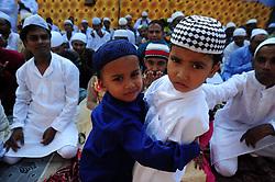 June 26, 2017 - Allahabad, Uttar Pradesh, India - Allahabad: Muslim children wishes to each other on the ocassion of Eid-Ul-Fitr in Allahabad on 26-06-2017. Photo by prabhat kumar verma (Credit Image: © Prabhat Kumar Verma via ZUMA Wire)