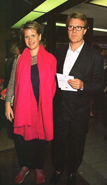 MR & MRS ROBERT FOX at a film premier on 26th August 1998.  MJL 10