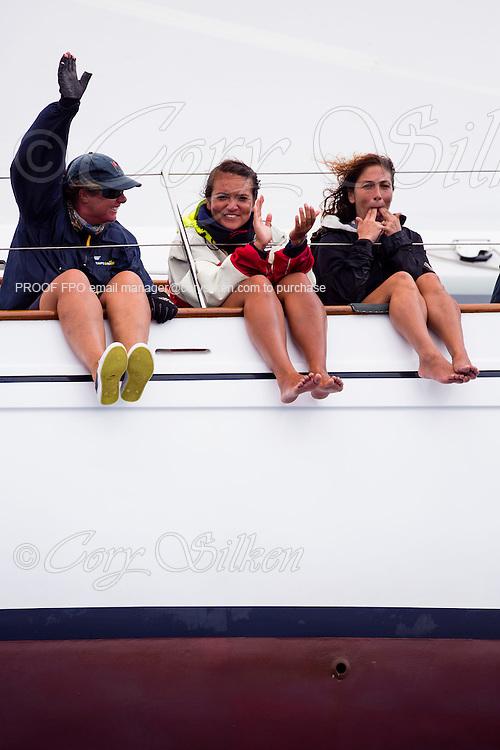 Stormvogel sailing in the Antigua Classic Yacht Regatta, Butterfly Race.