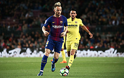 May 9, 2018 - Barcelona, Spain - Ivan Rakitic and Sansone during the match between FC Barcelona and Villarreal CF, played at the Camp Nou Stadium on 09th May 2018 in Barcelona, Spain.  Photo: Joan Valls/Urbanandsport /NurPhoto. (Credit Image: © Joan Valls/NurPhoto via ZUMA Press)