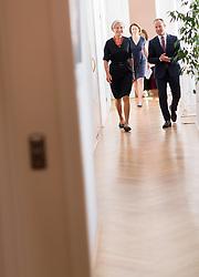 """06.07.2017, Presseclub Concordia, Wien, AUT, NEOS, Pressekonferenz """"Allianz für Freiheit und Verantwortung"""". im Bild v.l.n.r. die ehemalige OGH Präsidentin und Präsidentschaftskandidatin Irmgard Griss und Klubobmann NEOS Matthias Strolz // during press conference of NEOS in Vienna, Austria on 2017/07/06. EXPA Pictures © 2017, PhotoCredit: EXPA/ Michael Gruber"""