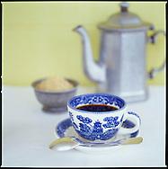 coffee service at The Hermitage Plantation Inn, Nevis