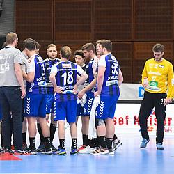 Auszeit bei den Gaesten aus Nordhorn-Lingen beim Spiel in der Handball Bundesliga, Die Eulen Ludwigshafen - HSG Nordhorn-Lingen.<br /> <br /> Foto © PIX-Sportfotos *** Foto ist honorarpflichtig! *** Auf Anfrage in hoeherer Qualitaet/Aufloesung. Belegexemplar erbeten. Veroeffentlichung ausschliesslich fuer journalistisch-publizistische Zwecke. For editorial use only.