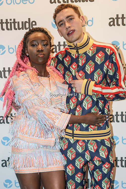 London,England,UK. 27th April 2017. Olly Alexander attend the LGBT magazine honours Bachelors of the Year at Café de Paris. by See Li