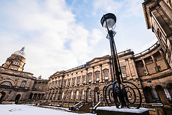 View of the Old College courtyard at University of Edinburgh , Scotland, United Kingdom