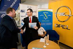 Bojan Zmavc of KZS and Tomaz Mikulan of Avtotehna VIS at press conference of Kayak and Canoe Federation of Slovenia when Avtotehna VIS signed a sponsorship contract, on April 7, 2010, in Avtotehna VIS, Ljubljana, Slovenia.  (Photo by Vid Ponikvar / Sportida)